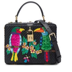 Dolce & Gabbana Top Handle Bag ($3,420) ❤ liked on Polyvore featuring bags, handbags, purse bag, sequin purse, flower handbags, dolce gabbana handbags and studded purse