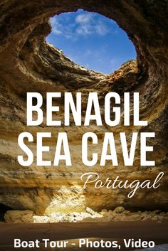 Portugal Algarve - Benagil Cave is the most famous sea cave on the Algarve Coast - Photos and video of the awesome Boat trip that take you there and to many other Stunning caves     ** Portugal Travel   Portugal beach   Portugal things to do   Algarve Beach - Algarve Portugal things to do