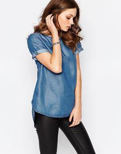 Image 1 - New Look - T-shirt long en jean