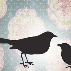 etsy banner  bird silhouette wallpaper by MaudesMisfitFactory