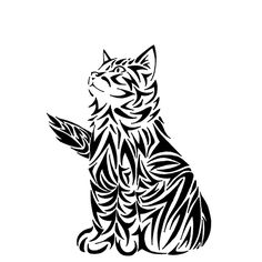 Tatouage chat : signification et Top 60 motifs de tattoo chat Tattoo Chat, Cat Tattoo, Colouring Pages, Adult Coloring Pages, Cat Embroidery, Cat Quilt, Scroll Saw Patterns, Kirigami, Pyrography