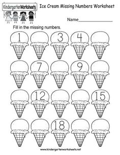 21 Missing Numbers Worksheet Ice Cream Missing Numbers 1 20 Worksheet for Kindergarten Free Printable The children can enjoy Number Worksheets, Math Worksheets, Alphabet Worksheets, . Missing Number Worksheets, Number Worksheets Kindergarten, Summer Worksheets, Printable Preschool Worksheets, Numbers Preschool, Learning Numbers, Free Preschool, Free Math, Worksheets For Kids