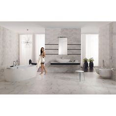 Carrara Gloss Tiles Veneto Marble Effect Tiles Tiles Bathroom Floor Tiles, Modern Bathroom, Tile Floor, Marble Price, Kitchen Cabinet Colors, Marble Effect, House Design, Interior Design, Bathroom Designs
