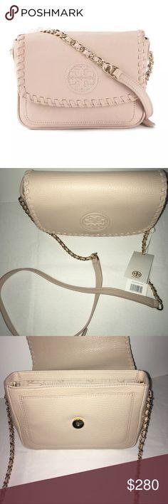 "Marion Mini Bag Tory Burch Purse/bag peach color Marion Mini Bag Tory Burch Purse/bag approximate measurements length 6"" width 8"" total length of strap/chain 48"" peach in color Tory Burch Bags Mini Bags"