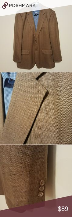 Alan Flusser Brown 44L Sports Coat Gently worn and well taken care of. No rips, tears, stains or other imperfections were found.  ***SHIRT NOT INCLUDED***  Measurements taken while laying flat: Size: 44L Color: Brown Material: 52% Silk 48%Wool Chest (Underarm to Underarm): 24 Waist: 22.5 Length (From Bottom of Collar): 33 Sleeves (Top of shoulder to end of cuff): 26.5 Shoulders (Seam to seam): 20 Vent: Single Alan Flusser Suits & Blazers Sport Coats & Blazers