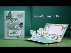 Butterfly Birthday Cards, Butterfly Cards, Pop Out Cards, Cool Cards, Fancy Fold Cards, Folded Cards, Slider Cards, Stamping Up Cards, Card Tutorials