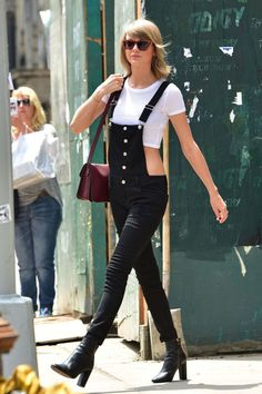 Taylor Swift wears Westward Leaning sunglasses while out in New York City on May 28, 2015.