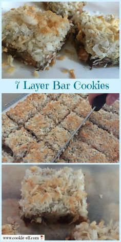 7 Layer Bar Cookies: ingredients, directions, and special baking tips from The Elf to help you make this classic bar cookie recipe that has spawned all kinds of variations, like Magic Bar Cookies. 7 Layer Cookies, Easy No Bake Cookies, Cherry Cookies, Cake Mix Cookies, Cupcakes, Cake Mix Cookie Recipes, Chocolate Cookie Recipes, Chocolate Chip Cookies, Cake Recipes