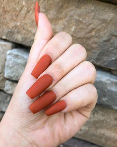 Suggestions for more beautiful nails nails nails acrylic nails fall nails of . - Suggestions for more beautiful nails nails nails acrylic nails fall nails of acrylic nail ideas - Nails Polish, Nail Polish Colors, Matte Nails, Red Nails, Red Orange Nails, Fall Nail Designs, Nail Polish Designs, Nails Design, Art Designs