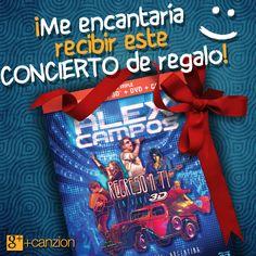 ¿Te gustaría recibir el concierto de Alex Campos #RegresoATi3D como regalo de Navidad?  — Comparte la imagen y que tus amigos hagan el resto : )