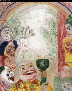 Waterhouse Museum: The Song of the Wine or Thirsty Masks James Ensor