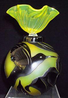 Yellow & Black Humming Bird Perfume Bottle