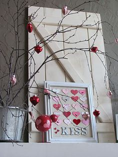 Nice Valentine's Day Vignette from 39th Street Cottage