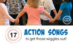Best Preschool Music for Energetic Kids 17 Action songs for preschoolers to get those wiggles out! From Teaching 2 and 3 Year OldsThe In Sound from Way Out! The In Sound from Way Out! may refer to: Preschool Action Songs, Preschool Music, Music Activities, Preschool Classroom, Preschool Activities, Action Songs For Preschoolers, Preschool Transitions, Movement Activities, Letter Activities