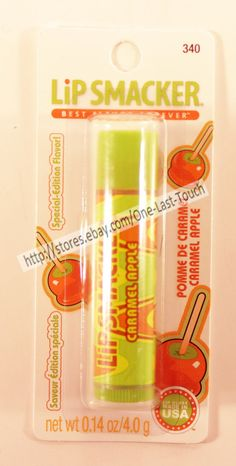 LIP SMACKER Balm/Gloss CARAMEL APPLE Flavored SPECIAL EDITION (carded) NEW! 2013