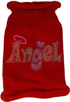 Mirage Pet Products 8 Technicolor Angel Rhinestone Pet Hoodie