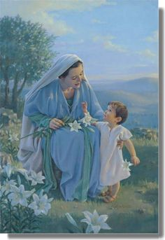 Menino Jesus e Maria sua mãe Blessed Among Women by Kathy Lawrence Religious Pictures, Jesus Pictures, Blessed Mother Mary, Blessed Virgin Mary, Catholic Art, Religious Art, Roman Catholic, Image Jesus, Mama Mary