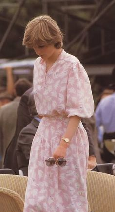 July 26, 1981:  Lady Diana Spencer at the Imperial International Polo Match for the Silver Jubilee Cup with England versus Spain at the Guards Polo Club, Windsor.