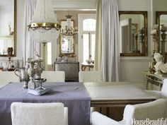 French Mirror Louis XV-Style Bed - Antique Decorating Ideas - House Beautiful Repinned! Aline