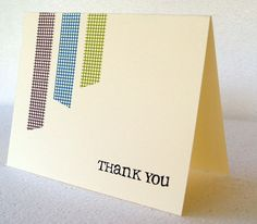 I really like the clean and simple look of this card using washi tape.