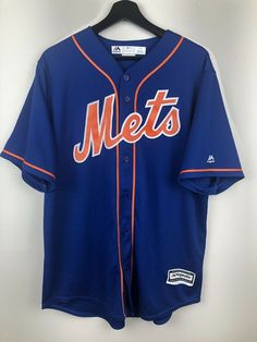MLB New York Mets Baseball Jersey Size L Free Shipping a218d7009