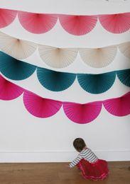 Honeycomb paper decorations |