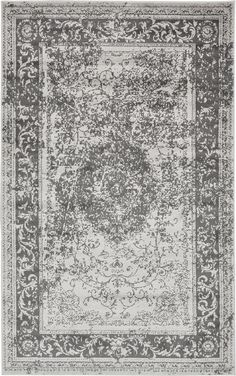 Gray 5' x 8' Courtyard Rug | Area Rugs | iRugs UK
