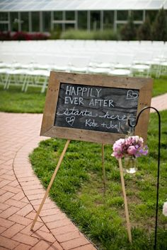 A sign for the ceremony.