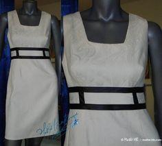 robe rétro chic coupe empire blanc ivoire et par MatheHBcouture