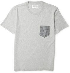Maison Martin MargielaCotton and Silk T-shirt