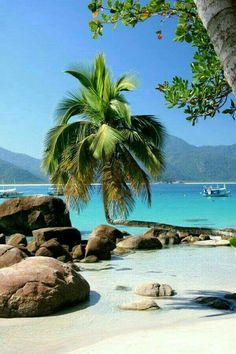 Praia do Aventureiro, Ilha Grande, Brasil - Beautiful beaches are bountiful. Places Around The World, The Places Youll Go, Places To See, Around The Worlds, Dream Vacations, Vacation Spots, Vacation Places, Italy Vacation, Places To Travel