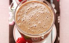 Skinny Raspberry Mocha Protein Shake - a great shake to have for breakfast!