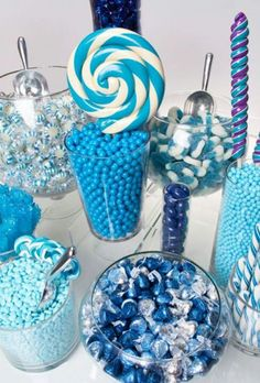 Blue and White Candy Table