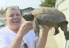 Woman Reunites With Tortoise She's Loved Since She Was 5
