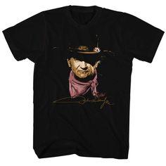 John Wayne RIDE EM COWBOY 1-Sided Sublimated Big Print Poly Cotton T-Shirt