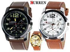 Zegarek Militarny CURREN skórzany Męski