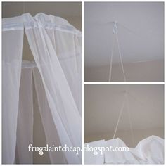 easy and inexpensive canopy, crafts, repurposing upcycling
