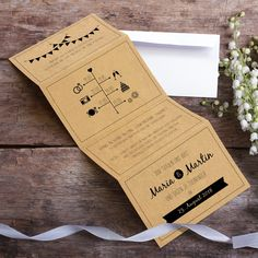 #Einladungskarte #Hochzeit Love Letter: https://www.meine-hochzeitsdeko.de/einladungskarte-hochzeit-love-letter