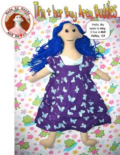 Tina and Her Bay Area Buddies Amy doll by rabbitstudios on Etsy, $25.00