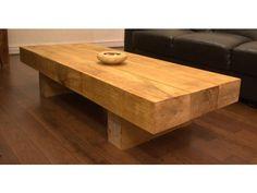 Oak Sleeper Coffee Table - Handmade from renewable Sources
