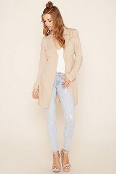 Longline Belted Coat  Forever 21