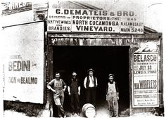 Demateis Winery at N. Alameda near Olvera Street I Courtesy of Italian American Museum of Los Angeles