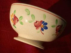 French Vintage Breakfast Bowl  Hand Painted Bowl  by GoshnPoche, $45.00