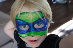 Face painting Ninja Turtle - fancy face by kaz - find me on facebook