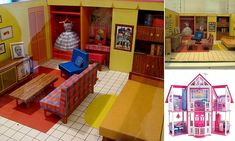 Barbie's first ever Dreamhouse from 1962 was a tiny yellow studio