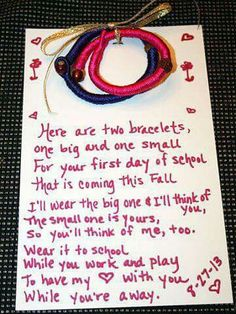 Such a sweet idea, perfect for assurance that your child is loved ♡