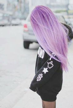75 Crazy Pastel Hair Color Ideas For Unique Hairstyles summer hair inspiration, summer haircolor, su Cute Hair Colors, Hair Color Purple, Hair Dye Colors, Blonde Color, Cool Hair Color, Purple Ombre, Light Purple Hair, Purple Style, Crazy Hair Colour