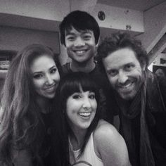 Hilly and Hannah Hindi with Rob and Osric <3