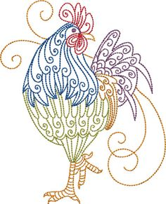 Make creative gifts for loved ones with Embroidery Central. We offer an enormous array of machine embroidery designs, like these chicken & rooster patterns! Embroidery Transfers, Machine Embroidery Patterns, Crewel Embroidery, Silk Ribbon Embroidery, Vintage Embroidery, Embroidery Tattoo, Simple Embroidery, Embroidery Ideas, Embroidery Thread