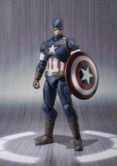 Japan Bandai S.H.Figuarts Captain America Figure The Avengers: Age of Ultron #Bandai